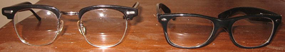 eyeglasses on a table (Wikimedia Commons)